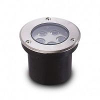 677921 Spot LED Encastrable Sol Rond 5W 3000°K Inox 304 Vision-EL
