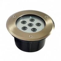Spot rond encastré de sol à LED 6W
