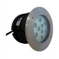 Spot rond encastré de sol à LED 9W