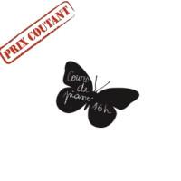 Sticker ardoise, modèle papillon