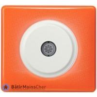 Prise TV simple Céliane blanc - Plaque 70's orange