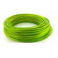 Fil H07VU 1,5mm² Vert / jaune en 100m