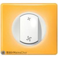 Poussoir pour VMC Céliane blanc - Plaque Today jaune