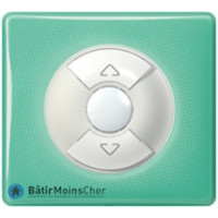 Inter volet roulant Céliane blanc - Plaque 50's turquoise