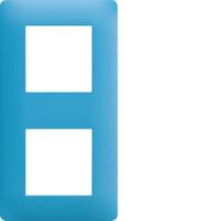 Plaque 2 postes Essensya bleu émail