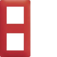 Plaque 2 postes Essensya rouge émail