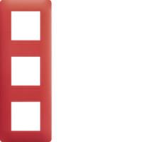 Plaque 3 postes Essensya rouge émail