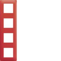 Plaque 4 postes Essensya rouge émail