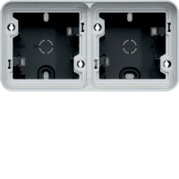 Boîte en saillie 2 postes horizontale Cubyko gris