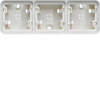Boîte en saillie 3 postes horizontale Cubyko blanc
