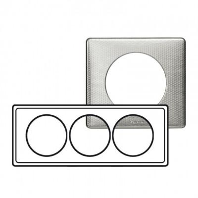 plaque 3 postes entraxe 57mm c liane alu snake c liane m tal plaque appareillage legrand. Black Bedroom Furniture Sets. Home Design Ideas