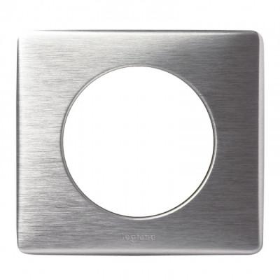 plaque d corative legrand c liane aluminium 1 poste b tir moins cher. Black Bedroom Furniture Sets. Home Design Ideas