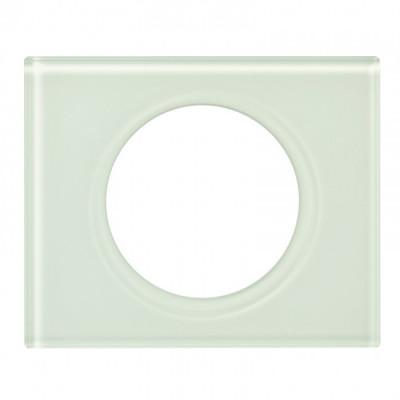 plaque 1 poste c liane verre kaolin c liane mati res. Black Bedroom Furniture Sets. Home Design Ideas