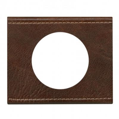 plaque 1 poste c liane cuir brun textur c liane. Black Bedroom Furniture Sets. Home Design Ideas