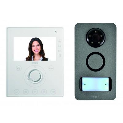 kit interphone vid o mini note pose en saillie interphone vid o interphone electricit. Black Bedroom Furniture Sets. Home Design Ideas