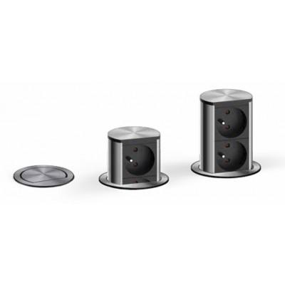 finest prise escamotable elevator x pt acier inox prise escamotable pour cuisine divers matriel. Black Bedroom Furniture Sets. Home Design Ideas