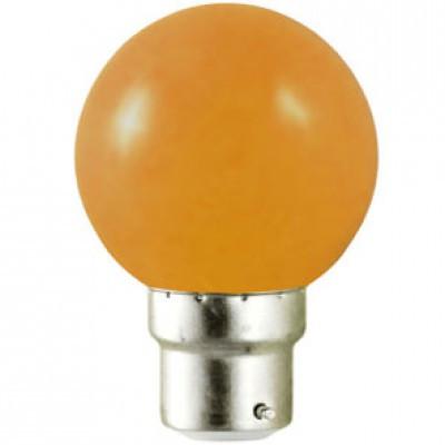 ampoule led b22 orange 1w ampoule led couleur ampoule led ampoules eclairage b tir. Black Bedroom Furniture Sets. Home Design Ideas