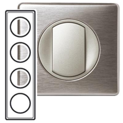 plaque 4 postes c liane aluminium c liane m tal plaque appareillage legrand celiane. Black Bedroom Furniture Sets. Home Design Ideas