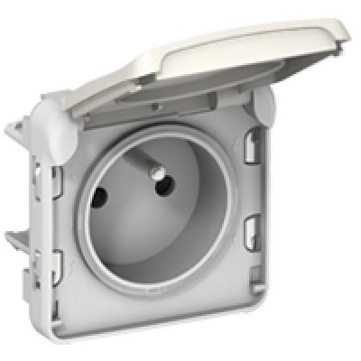 prise 2p t borne auto plexo composable blanc m canisme composable appareillage tanche. Black Bedroom Furniture Sets. Home Design Ideas