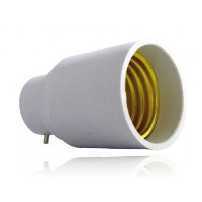 adaptateur de culot de b22 vers e27 douille et autres accessoires eclairage b tir moins cher. Black Bedroom Furniture Sets. Home Design Ideas