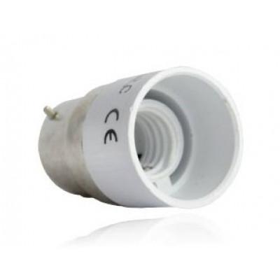 adaptateur de culot de b22 vers e14 douille et autres accessoires eclairage b tir moins cher. Black Bedroom Furniture Sets. Home Design Ideas
