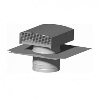 Chapeau de toiture métallique CT 160 - ø160mm - Ardoise - Sortie de toit / murale de VMC ...