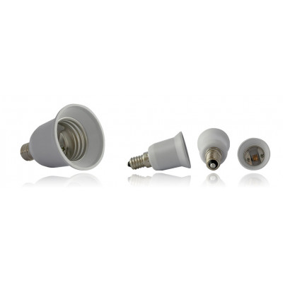 adaptateur de culot de e14 vers e27 douille et autres accessoires eclairage b tir moins cher. Black Bedroom Furniture Sets. Home Design Ideas