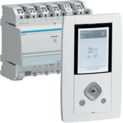 Gestionnaire d 39 nergie rt2012 3 zones indicateur de consommation rt20 - Gestionnaire d energie hager ...