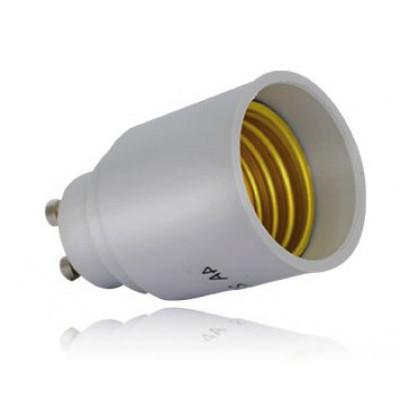 adaptateur de culot de gu10 vers e27 douille et autres accessoires eclairage b tir moins cher. Black Bedroom Furniture Sets. Home Design Ideas