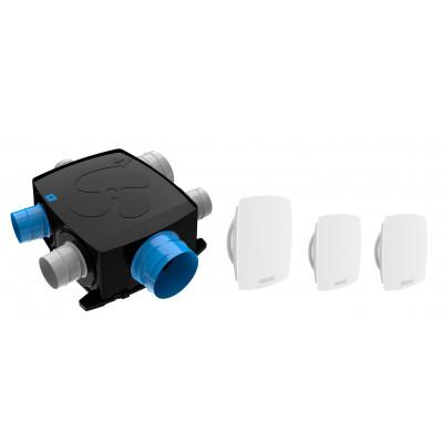 Vmc Simple Flux Autoréglable Extra Plate Intelligente