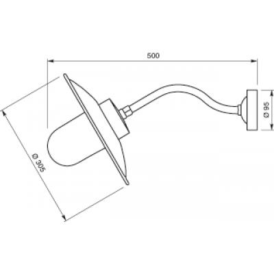Lanterne col de cygne noire e27 52w applique d for Catalogue eclairage exterieur