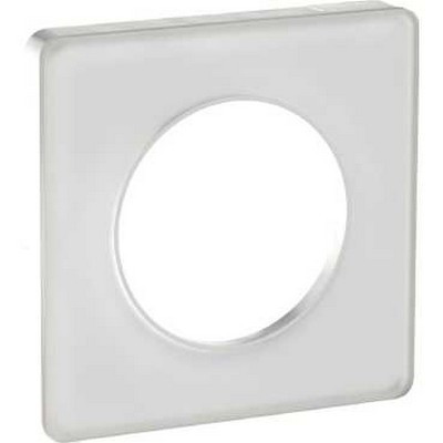 plaque 1 poste odace touch translucide blanc odace. Black Bedroom Furniture Sets. Home Design Ideas