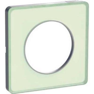plaque 1 poste odace touch translucide vert odace. Black Bedroom Furniture Sets. Home Design Ideas