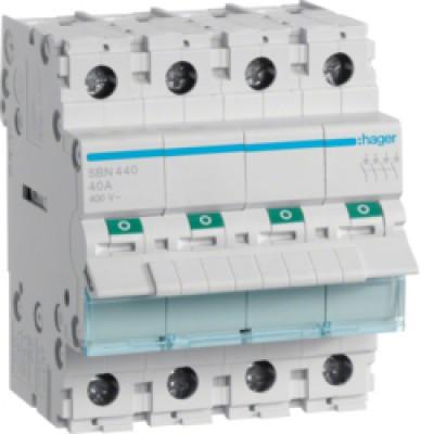 Interrupteur sectionneur t trapolaire 63a interrupteur sectionneur tableau lectrique hager - Branchement coupe circuit 6 poles ...
