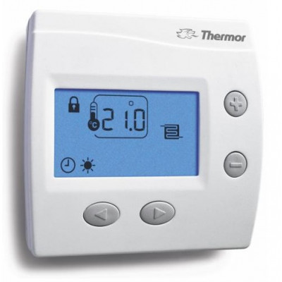 thermostat d 39 ambiance ks chauffage au sol thermor thermostat programmable chauffage. Black Bedroom Furniture Sets. Home Design Ideas