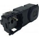 Mécanisme prise 2P+T + chargeur USB précâblé