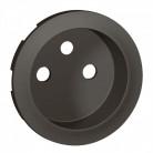 Enjoliveur prise 2P+T standard à puits - Graphite