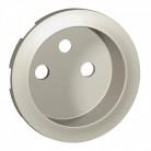 Enjoliveur prise 2P+T à puits - titane - 068412 - Legrand
