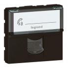 Prise RJ45 catégorie6 FTP Mosaic 2 modules – noir mat - 079165L - Legrand