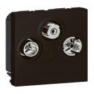 Prise TV-R-SAT Mosaic FM et DAB+ 2 modules – noir mat