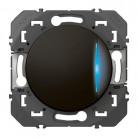 Poussoir simple avec voyant lumineux dooxie 6A 250V~ finition Noir - 095267 - Legrand