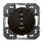 Prise téléphone en T dooxie finition noir - 095286 - Legrand