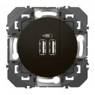 Double chargeur USB TypeA dooxie 2,4A finition Noir