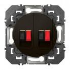 Prise haut-parleur double dooxie finition Noir - 095289 - Legrand