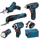 Kit de 5 outils sans fil L-Boxx Bosch Professionnel