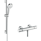 Ensemble douche mitigeur + barre Croma Select S - 27013400 - Hager