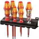 Rack de 6 tournevis isolés + détecteur de tension