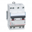 Disjoncteur DNX³4500 6kA arrivée et sortie borne à vis - tétrapolaire 400V~ 16A courbe C - 3 modules