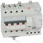 Disjoncteur différentiel monobloc DX³6000 10kA arrivée haute vis départ haut automatique 4P 400V~ - 40A - typeAC 300mA