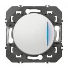 Poussoir simple avec voyant lumineux dooxie 6A 250V~ finition blanc